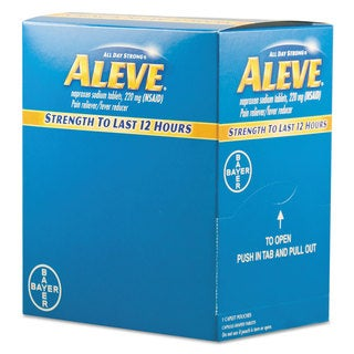 Aleve Pain Reliever Tablets (Pack of 50)