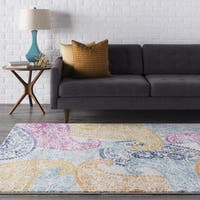 The Curated Nomad Bellevue Paisley Yellow & Pink Area Rug - 7'10 x 10'3