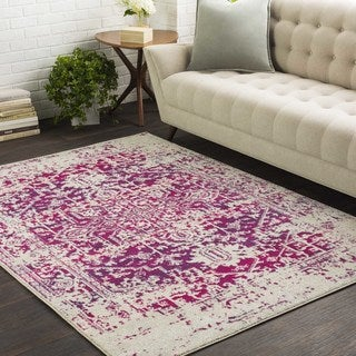 Haute-Hali Persian Distressed Purple Rug (2' x 3')