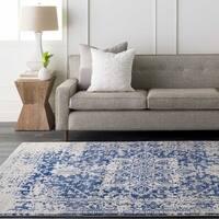 Haute-Hali Persian Distressed Blue Area Rug (2' x 3')
