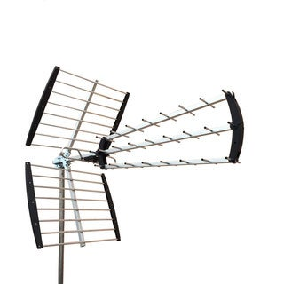 XJ-450C 360-Degree Rotation 470-860MHz 13dB 75  Outdoor Assembly Antenna Silver