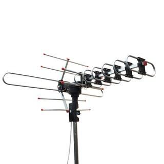 XJ-100A 360-Degree Rotation UV Dual Bands 45-860MHz 22-38dB Outdoor Assembly Antenna Black