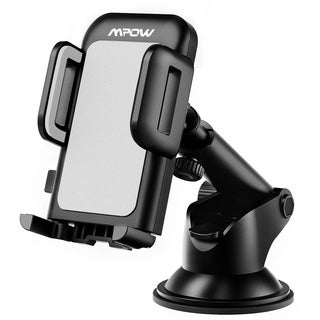 Adjustable Dashboard Cellphone Mount Holder, Strong Sticky Gel Pad for iPhone 6 6s Plus 5S, Samsung Galaxy S6 Edge S5, etc