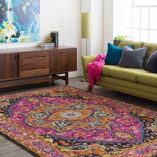 Haute-Hali Persian Oriental Purple Area Rug (2' x 3')
