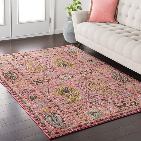 Colony House Vintage Oriental Pink Area Rug (2' x 3')