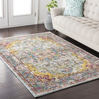 The Curated Nomad Hayes Vintage Oriental Cream/Yellow Area Rug (7'10 x 10'3)