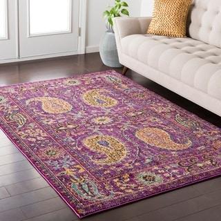 """Colony House Vintage Oriental Purple Area Rug - 7'10"""" x 10'3"""""""