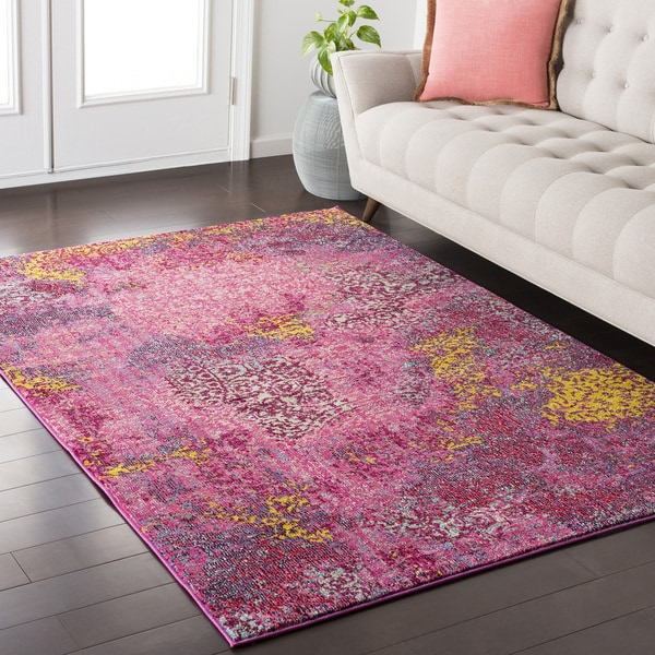 Attractive Bright Pink Rug - Area Rug Ideas KB11