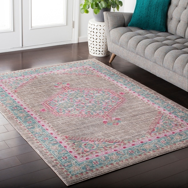 Shop Hali House Distressed Persian Vintage Greypink Area Rug 2 X