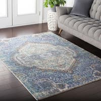 Amelia Distressed Persian Vintage Violet Area Rug - 7'10 x 10'3