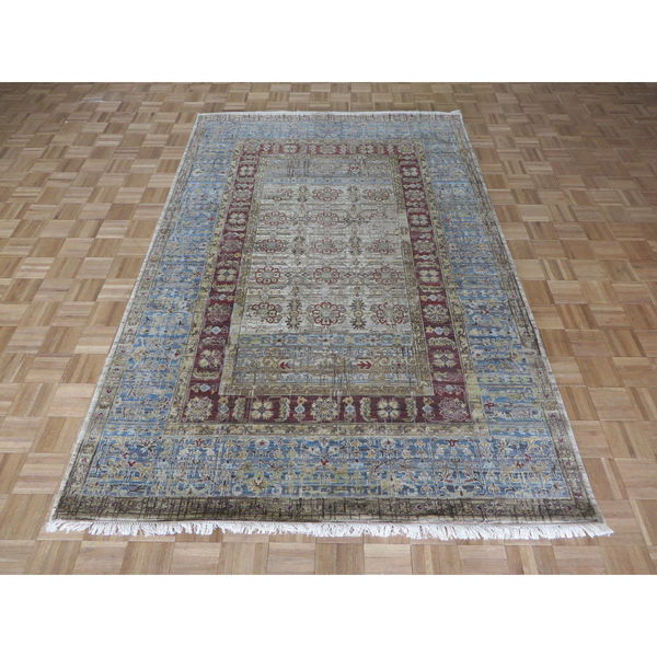 Shop Beige Wool Hand Knotted Oriental Persian Area Rug 6: Shop Hand-knotted Tabriz Beige 100-percent Wool Oriental