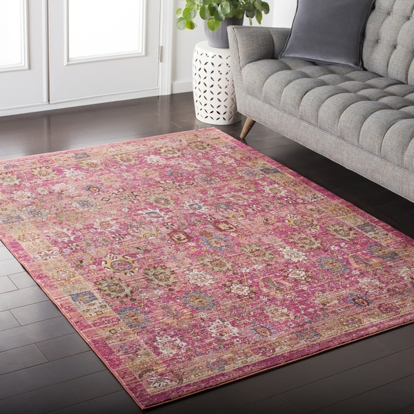 Colony House Vintage Oriental Pastel-Pink Area Rug (2' x 3')