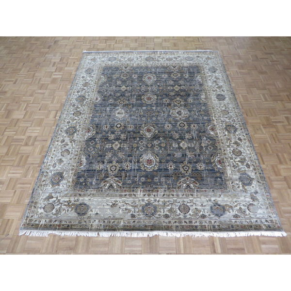 Hand Knotted Persian Tabriz Wool Area Rug Ebth: Shop Tabriz Oriental Grey 100-percent Hand-knotted Wool