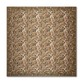 Needlepoint Aubusson Multicolor 100-percent Wool Flat Pile Rug (10' x 10')