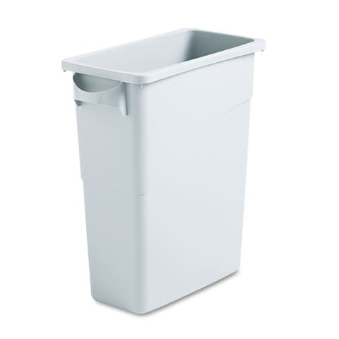 Rubbermaid Light Grey Slim Jim Waste Container with Handles