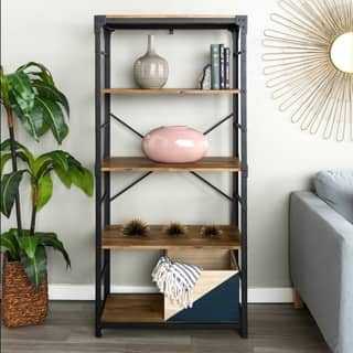 64-inch Angle Iron Modern Bookshelf (Option: Ash Finish)|https://ak1.ostkcdn.com/images/products/15870825/P22278956.jpg?impolicy=medium