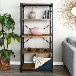 Carbon Loft Minnie 64-inch Iron Angled Bookshelf