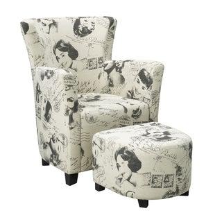Brassex 710 Club Chair with Ottoman