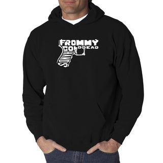 Los Angeles Pop Art Men's Hooded Sweatshirt - Out of My cold Dead Hands Gun