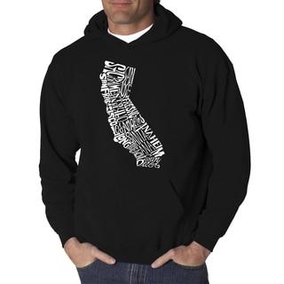 Los Angeles Pop Art Men's Hooded Sweatshirt - California State