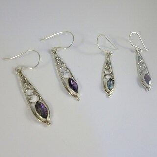 Handmade Lusciously Long Sterling Silver Earrings (Indonesia)