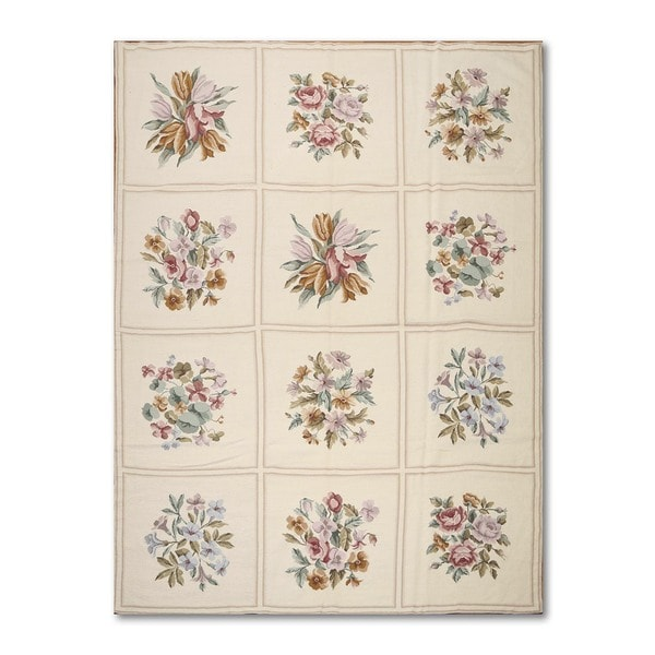 French Aubusson 100 Percent Wool Handmade Needlepoint Rug
