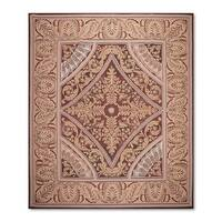 Aubusson Savonnerie Design French Garden Multicolored Wool Handwoven Needlepoint Rug - 8'11 x 11'9