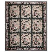 Aubusson Needlepoint Multi-colored 100-percent Wool Flat Pile Area Rug (9' x 12')
