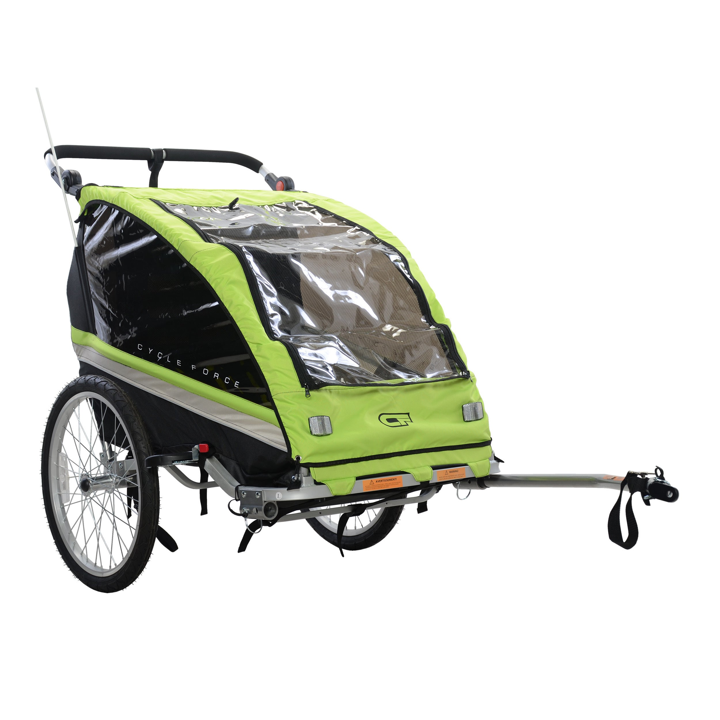 Cycle Force C23 Double Child 3-In-1 Bicycle Trailer, Jogg...