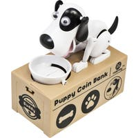 Dog Piggy Bank Robotic Coin Toy Money Box Named Buddy - White