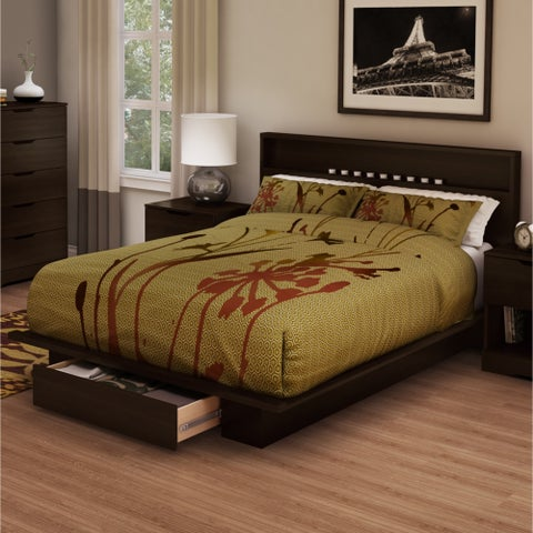South Shore Holland Full/Queen Platform Bed and Headboard Set