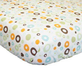 Cotton Tale Scribbles Multicolor Circles Fitted Crib Sheet