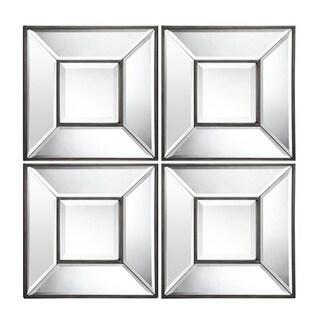 Cooper Classics Ola Aged Bronze Finished Beveled Mirror (Set of 4)
