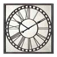 "Landon 25"" Square Grey Metal Wall Clock"