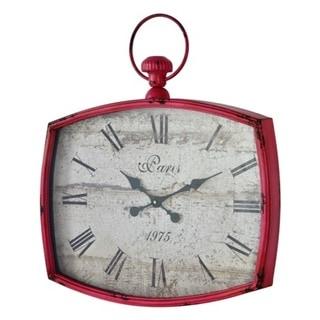 """Emerison 23""""x26"""" Metal Pink Wall Clock"""