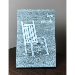 Lela & Ollie Live Simply 6 x 9 Wood Plaque with Easel