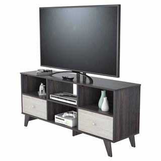 Inval Vinka Cream and Brown European-style TV Stand