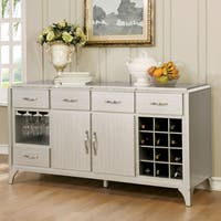Furniture of America Selano Contemporary Mirrored Multi-drawer Silver Dining Server