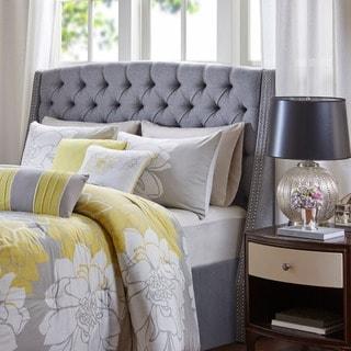 Madison Park Estella Grey Upholstery Headboard