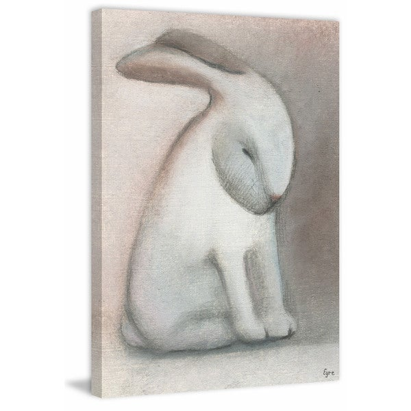 Rabbit Reflexion' Painting Print on Wrapped Canvas