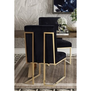 Akiko Black Velvet Chairs (Set of 2)