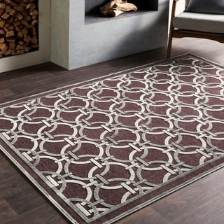 Luxe Viscose Accented Modern Brown Rug (2'2 x 3')