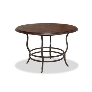 Bernards Midland Brown Round Casual Dining Table