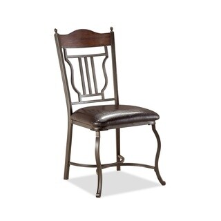 Bernards Chocolate Brown Metal Dining Chairs (Set of 4)