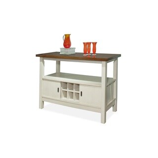 Bernards White Winslow Server with Cherry Finish
