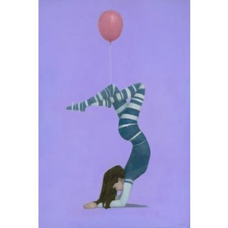 Pink Balloon 2' Painting Print on Wrapped Canvas