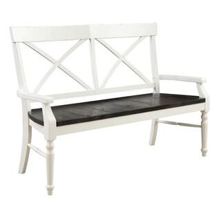 Emerald Home Mountain Retreat X-Back Bench W/Wood Seat