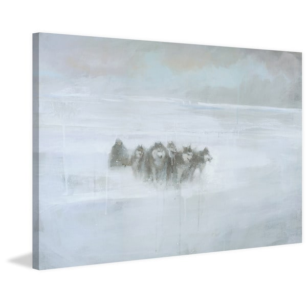 The Explorer' Painting Print on Wrapped Canvas - White