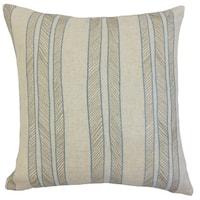 Drum Stripes 24-inch Down Feather Throw Pillow Indigo