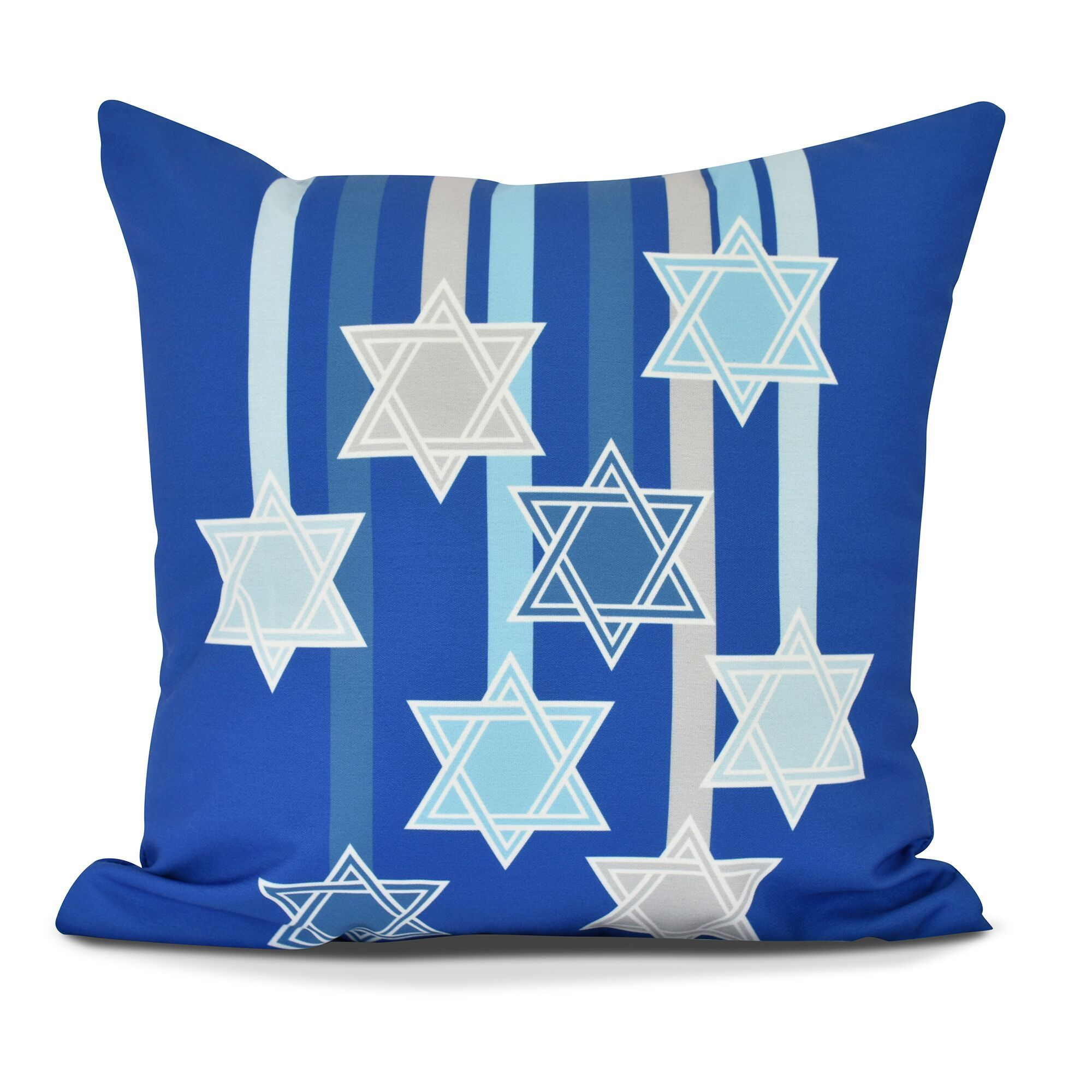 Shooting Stars, Geometric Print Pillow (Medium - Blue - 16 x 16)